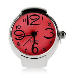 Женские кварцевые часы кольцо BOZHI с растягивающимся ремешком (красные)
