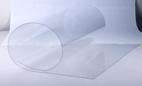 Листовой твердый ПВХ с защитной пленкой (прозрачный гибкий пластик)