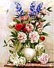 Раскраски для взрослых 40×50 см. Букет в белой вазе Художник Игорь Бузин