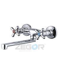Смеситель для кухни ZEGOR DTZ12-B827 настенный