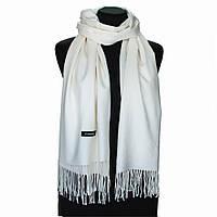 Кашемировый белый шарф