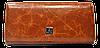 Стильный женский кошелек из натуральной кожи рыжего цвета Bobi Diqi QQY-000282