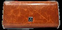 Стильный женский кошелек из натуральной кожи рыжего цвета Bobi Diqi QQY-000282, фото 1