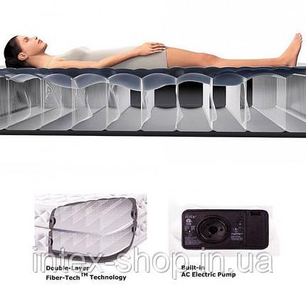 Кровать со встроенным насосом Queen Deluxe Pillow Rest, Intex 64436, фото 2