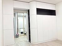 Мебель в гостиную, белая, глянцевая, крашеный МДФ, межкомнатная белая дверь, фото 1