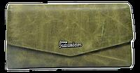 Женский кошелек из натуральной кожи оливкового цвета Futureborn XXS-210066