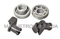 Комплект колеса + держатели (2шт) для верхнего ящика посудомоечной машины Bosch 424717 (код:11478)
