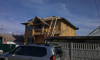 Сруб деревянный Днепропетровск п.Шевченко  1