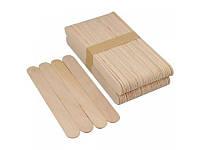 Шпатель деревянный для нанесения воска 15х1,8 см 100 шт