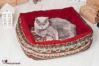 Лежак-диван для собак и кошек Haustier Xmas 55х45см