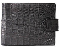 Мужской кошелек из кожи крокодила (ALM 100T Black), фото 1