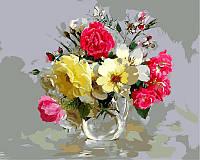 Раскраска по цифрам 40×50 см. Розы в кувшинчике Художник Игорь Бузин, фото 1