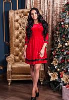 Женское короткое бархатное платье с пышной юбкой Juliet