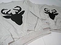 Серый свитшот с оленем