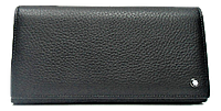 Шикарный женский кошелек из натуральной кожи черного цвета WWT-200072