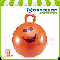 Детский фитбол с ручкой LiveUp HOPPING BALL + насос