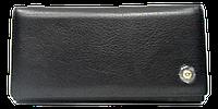Женский кошелек из натуральной кожи черного цвета MMY-299007