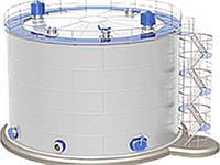 Монтаж резервуаров под аммиачную воду.