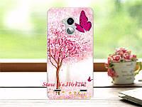 Эксклюзивные чехлы для ZTE Blade V7 Lite с рисунком Розовое дерево с бабочкой