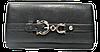 Оригинальный женский кошелек с пряжкой из натуральной кожи черного цвета  BBX-098689