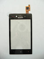 Сенсор тачскрин Sony ST23i Xperia Miro черный