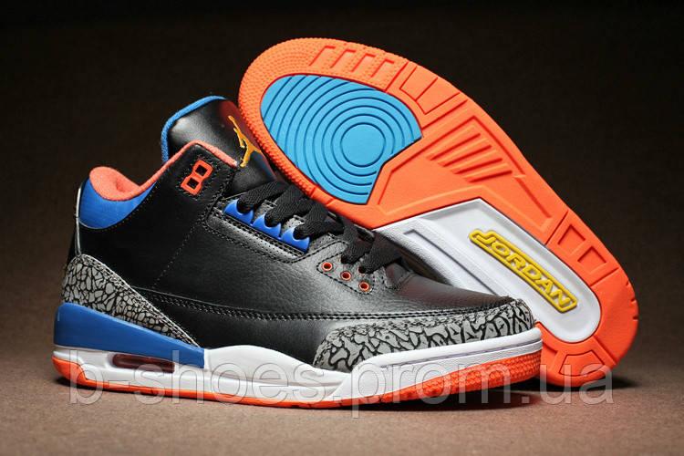 buy popular 65d0d 2b135 Мужские кроссовки Air Jordan Retro 3 (New York Knicks Black)