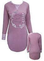 Ночная рубашка женская с принтом «EGO» SLEEPSHIRT SPL 032