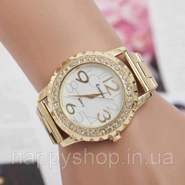 Роскошные женские часы со стразами (Gold)