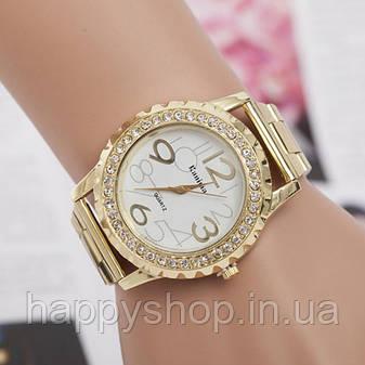Роскошные женские часы со стразами (Gold), фото 2