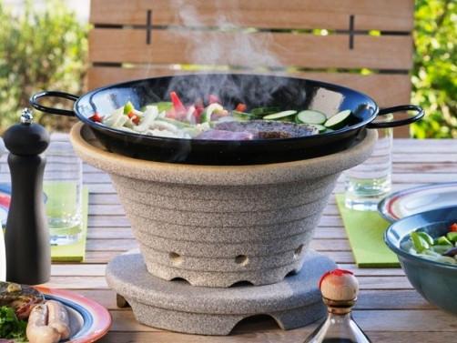 Настольное барбекю COSYROAST в комплекте со сковородой, крышкой, 2 большие таблетки древесн. угля