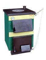 Твердотопливный котел-плита ТИВЕР - КТ 14 кВт Снабженный термостатическим регулятором тяги