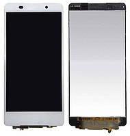 Дисплей (экран) для телефона Sony Xperia Z5 Compact E5803, Xperia Z5 Compact E5823 + Touchscreen Original White