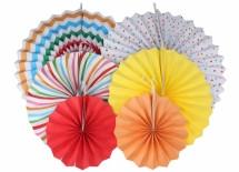 Набор бумажных вееров для декора 6 шт