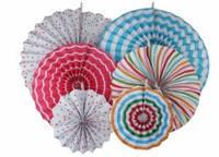 Набор  бумажных вееров для декора 6 шт.