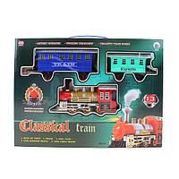 ЖД 51 (24шт) 470см, локомотив-звук, свет, вагон 2шт, на бат-ке, в кор-ке, 42,5-29-6,5см