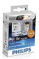 Светодиодная лампа Philips PY21W X-tremeVision LED 12V 12764X2 (2шт.)
