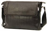 Кожаная мужская сумка Tom Stone 404 черная