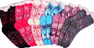 Носки тапочки женские BaGi Wool (Сердечко)