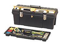 """Ящик для инструмента профессиональный пластмассовый с отсеком для хранения уровня 26"""" Stanley 1-92-850"""