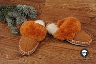 Комнатные тапочки c овечьей шерстю, фото 1