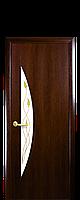 """Двери межкомнатные """"Новый Стиль-Луна"""" рисунок 1 орех"""