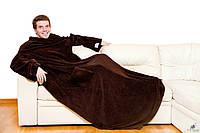 Одеяло-плед Snuggie Blanket с рукавами Снагги Бланкет (черный)
