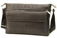 Кожаная мужская сумка Tom Stone 4081 черная