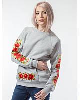 """Жіночий вишитий світшот """"Польська роза"""""""
