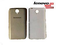 Задняя крышка (панель) для Lenovo S650, оригинал (серебрянный)
