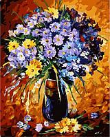 Раскраски для взрослых 40×50 см. Цветочный фейерверк Художник Леонид Афремов, фото 1