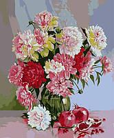 Раскраски для взрослых 40×50 см. Натюрморт с пионами Художник Сергей Кольба