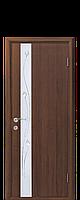 """Двери межкомнатные """"Новый Стиль-Злата""""  Рисунок 1 орех 3D (глухое)"""