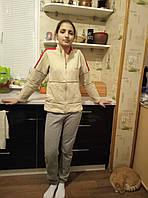 Кофта спортивная женская без капюшона с начесом