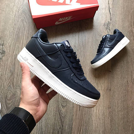 """Кроссовки Nike Air Force 1 Low """"Navy Blue/White"""", фото 2"""